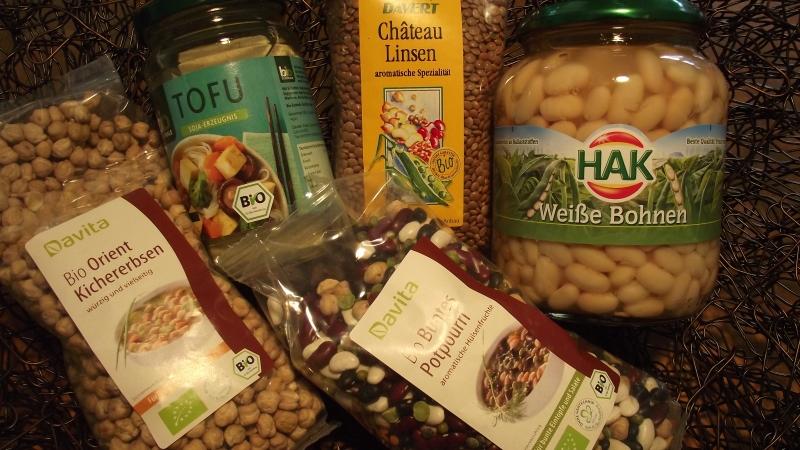 Nahrungsmittel mit pflanzlichem Protein